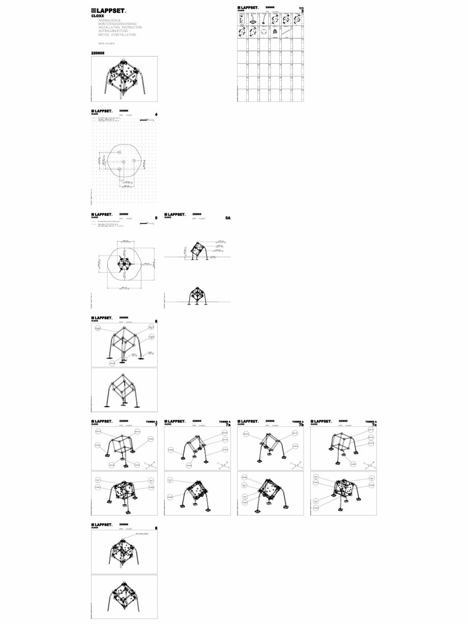 Pagina 1 - CAD-DWG Echipament de joaca pentru copii - 220605(2) LAPPSET Detaliu de produs CLOXX
