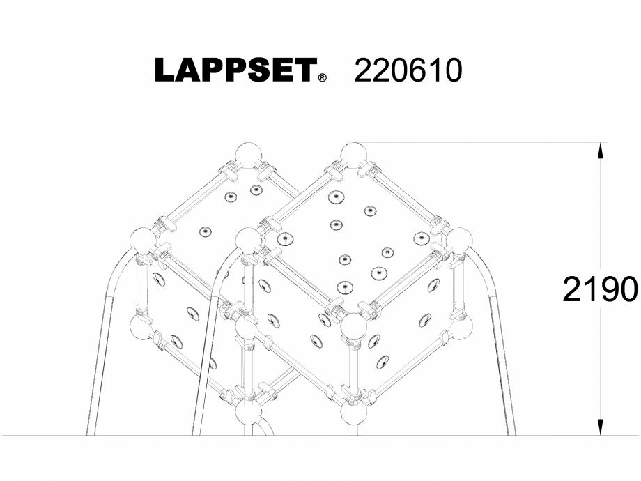 Pagina 1 - CAD-DWG Echipament de joaca pentru copii - 220610 LAPPSET Detaliu de produs CLOXX