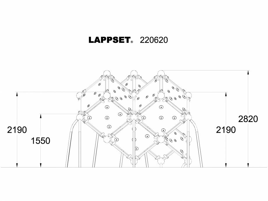 Pagina 1 - CAD-DWG Echipament de joaca pentru copii - 220620(1) LAPPSET Detaliu de produs CLOXX