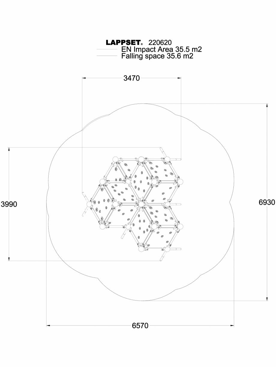 Pagina 1 - CAD-DWG Echipament de joaca pentru copii - 220620 LAPPSET Detaliu de produs CLOXX