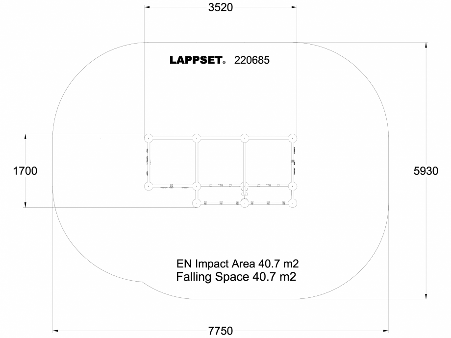 Pagina 1 - CAD-DWG Echipament de joaca pentru copii - 220685(1) LAPPSET Detaliu de produs CLOXX