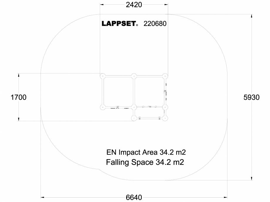 Pagina 1 - CAD-DWG Echipament de joaca pentru copii - 220680(1) LAPPSET Detaliu de produs CLOXX