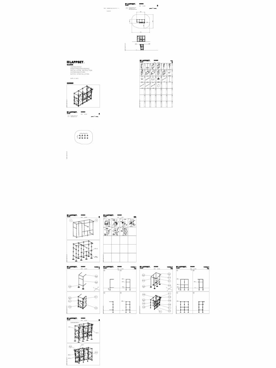 Pagina 1 - CAD-DWG Echipament de joaca pentru copii - 220685(2) LAPPSET Detaliu de produs CLOXX