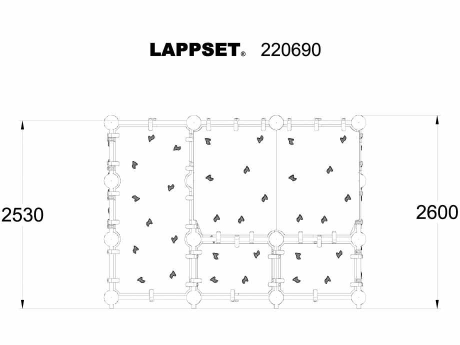 Pagina 1 - CAD-DWG Echipament de joaca pentru copii - 220690 LAPPSET Detaliu de produs CLOXX