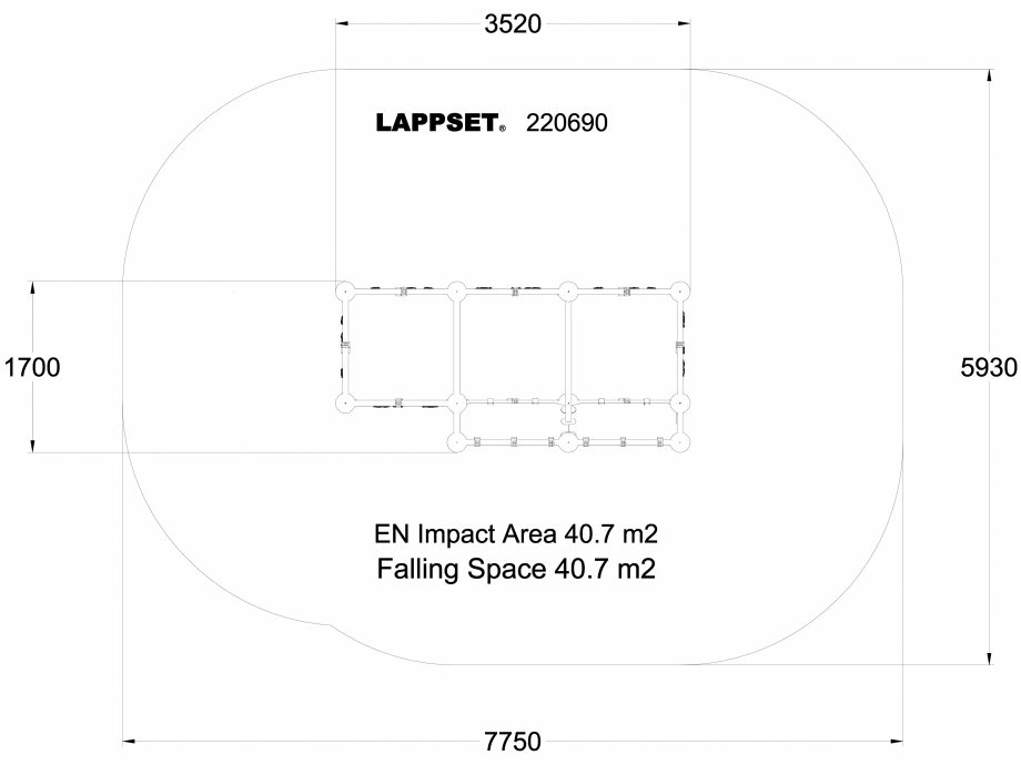 Pagina 1 - CAD-DWG Echipament de joaca pentru copii - 220690(1) LAPPSET Detaliu de produs CLOXX