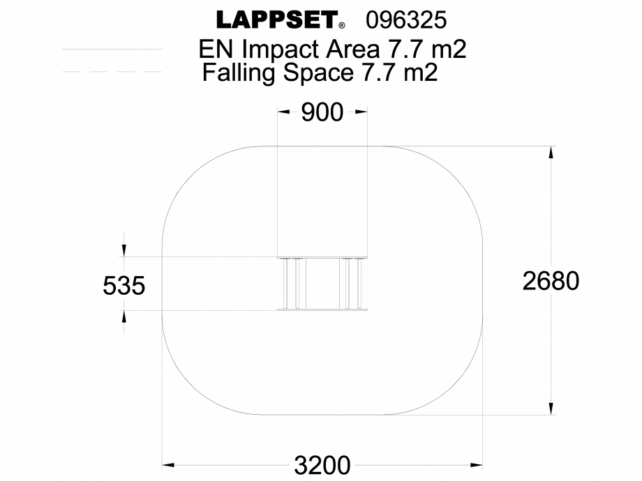 Pagina 1 - CAD-DWG Echipament de joaca pentru copii sub 4 ani LADYBIRD SWING 096325 LAPPSET Detaliu ...