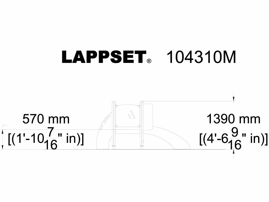 Pagina 1 - CAD-DWG Echipament de joaca pentru copii sub 4 ani ANTON 104310M LAPPSET Detaliu de...
