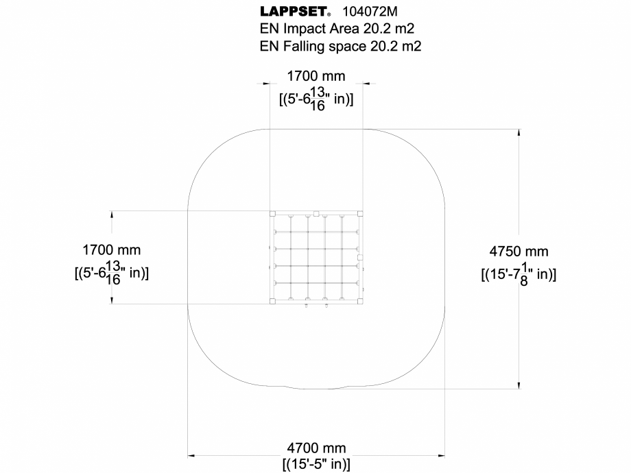 Pagina 1 - CAD-DWG Echipament de joaca pentru copii sub 4 ani Cadru de catarat 104072M LAPPSET...