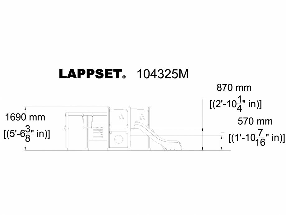 Pagina 1 - CAD-DWG Echipament de joaca pentru copii sub 4 ani LUCAS 104325M LAPPSET Detaliu de...