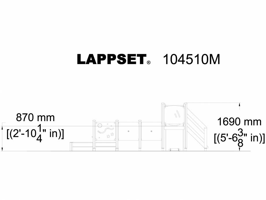 Pagina 1 - CAD-DWG Echipament de joaca pentru copii sub 4 ani LISA 104510M LAPPSET Detaliu de produs...