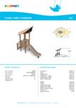 Echipament de joaca din lemn 175515  LAPPSET - FLORA