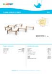 Echipament pentru echilibru din lemn 175535  LAPPSET - FLORA