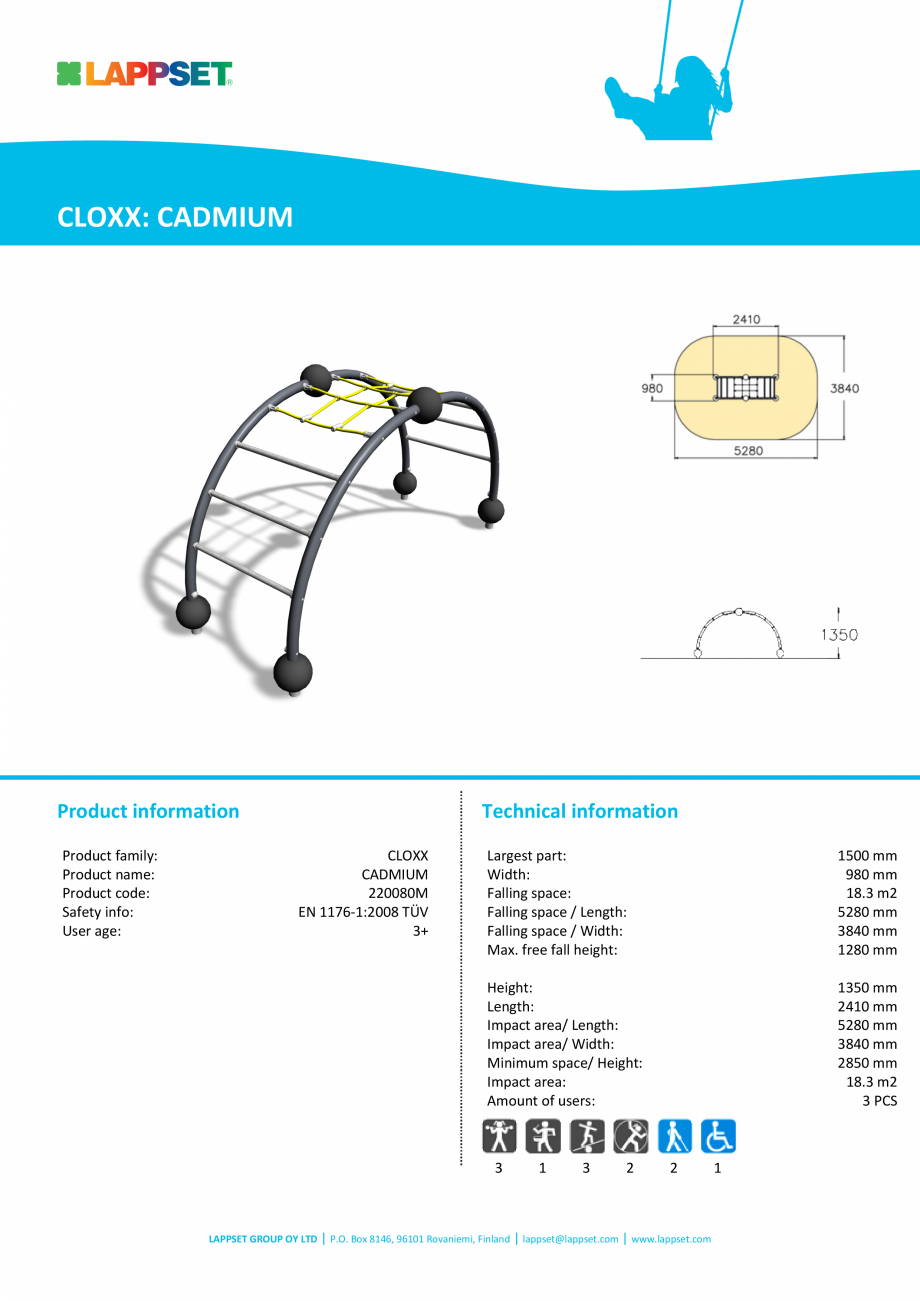 Pagina 1 - Echipament de catarat CADMIUM 220080M LAPPSET CLOXX Fisa tehnica Engleza CLOXX: CADMIUM  ...