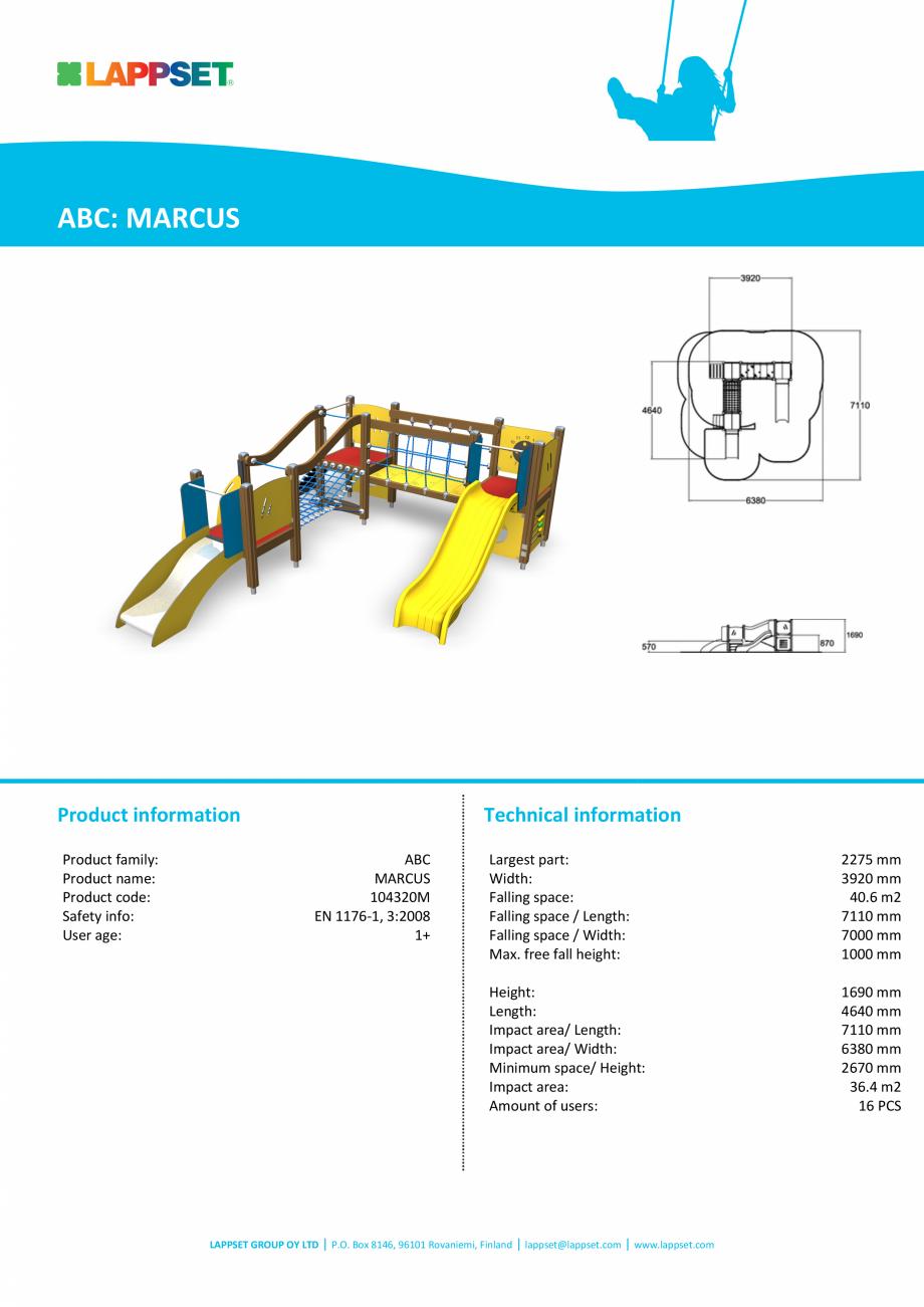 Pagina 1 - Echipament de joaca tematic pentru copii sub 4 ani 104320M  LAPPSET FINNO ABC Fisa...