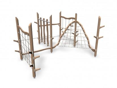 GNOME'S CLIMBING FOREST - Echipament de catarat din lemn 175595 FLORA Echipamente de joaca pentru copii