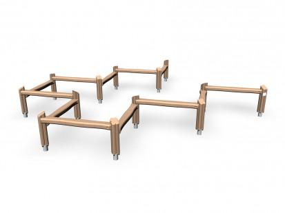 GOBLIN'S TRACK - Echipament pentru echilibru din lemn 175535 FLORA Echipamente de joaca pentru copii