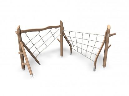 TROLL'S CLIMBING TRACK - Echipament de catarat din lemn 175590 FLORA Echipamente de joaca pentru copii