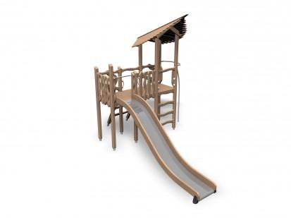 TROLL'S SHELTER - Echipament de joaca din lemn 175510 FLORA Echipamente de joaca pentru copii