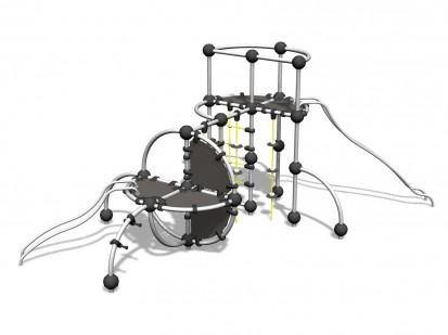 COBALT - Echipament de catarat 220140 CLOXX Echipamente de joaca din metal pentru copii
