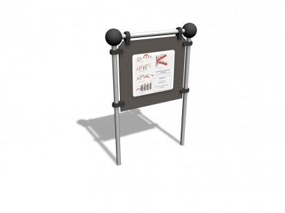 INFO SIGN - Panou informatii 220590 CLOXX Echipamente de joaca din metal pentru copii