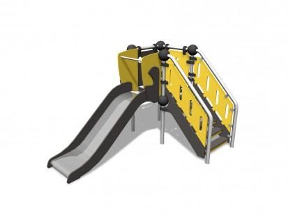 NICKEL - Echipament de joaca cu tobogan 220300 CLOXX Echipamente de joaca din metal pentru copii