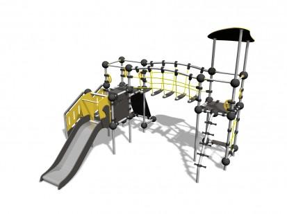 KRYPTON - Echipament de catarat cu tobogan 220325 CLOXX Echipamente de joaca din metal pentru copii