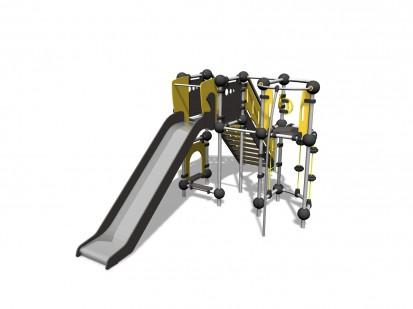 OSMIUM - Echipament de catarat cu tobogan 220340 CLOXX Echipamente de joaca din metal pentru copii