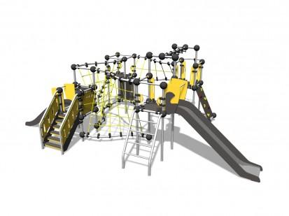 PLUTONIUM - Echipament de catarat cu tobogan 220336 CLOXX Echipamente de joaca din metal pentru copii