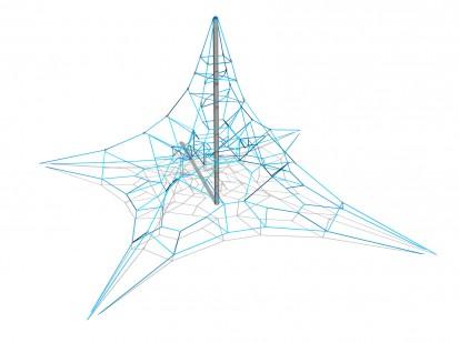 PYRAMID NET M - Structura de catarat 200202 CLOXX Echipamente de joaca din metal pentru copii