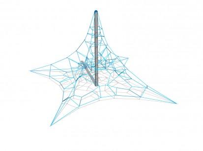 PYRAMID NET L - Structura de catarat 200203 CLOXX Echipamente de joaca din metal pentru copii