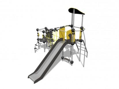RADON - Echipament de catarat cu tobogan 220316 CLOXX Echipamente de joaca din metal pentru copii