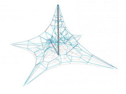 PYRAMID NET S - Structura de catarat200201 CLOXX Echipamente de joaca din metal pentru copii