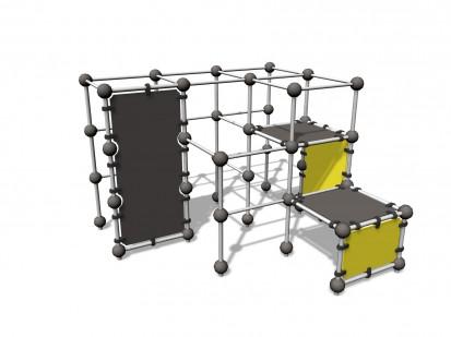 SPIDER CAGE M - Echipament de catarat 220523 CLOXX Echipamente de joaca din metal pentru copii