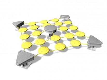 SURFY YELLOW,3520x3520x500 - Echipament pentru echilibru 220010 CLOXX Echipamente de joaca din metal pentru copii