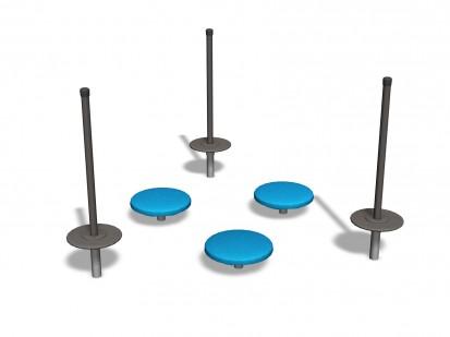 UNION - Echipament de joaca pentru copii 220037 CLOXX Echipamente de joaca din metal pentru copii