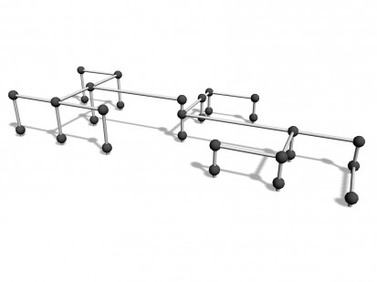 VAULT RAILS L - Echipament de joaca pentru copii 220549 CLOXX Echipamente de joaca din metal