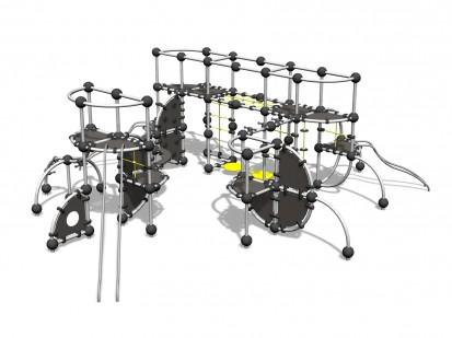 TITANIUM - Echipament de catarat 220150 CLOXX Echipamente de joaca din metal pentru copii