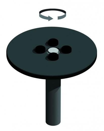 ZINC - Echipament de joaca rotativ 220031M CLOXX Echipamente de joaca din metal pentru copii