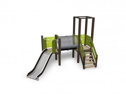 ACTIVITY TOWER - Echipament de joaca cu tobogan 137117M NEW FINNO Echipamente de joaca din lemn
