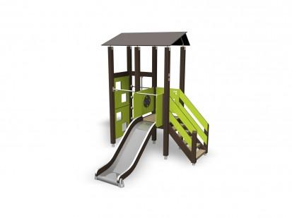 ACTIVITY TOWER - Echipament de joaca cu turn 137375M NEW FINNO Echipamente de joaca din lemn