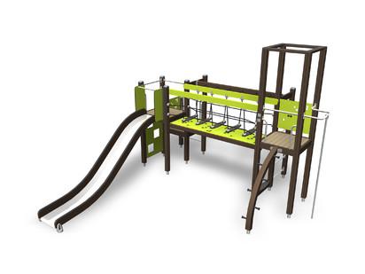 ACTIVITY TOWER - Echipament de joaca pentru copii 137105M NEW FINNO Echipamente de joaca din lemn
