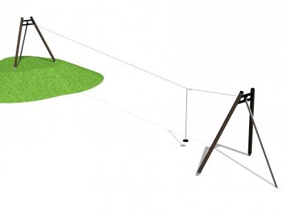 AERIAL RUNWAY - Echipament de joaca cu tiroliana160050M NEW FINNO Echipamente de joaca din lemn pentru