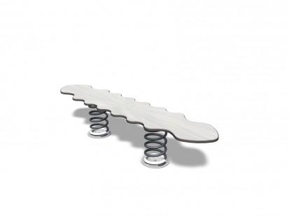 CABBAGE WORM - Balansoar cu arc orizontal 096319 NEW FINNO Echipamente de joaca din lemn pentru