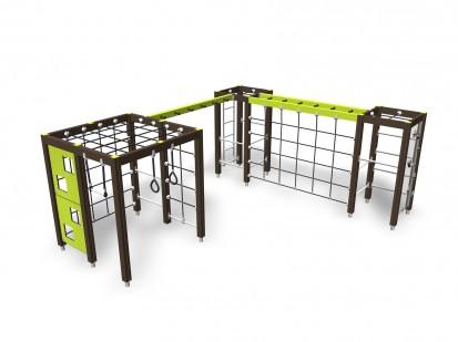 CLIMBING TRACK - Echipament de catarat 137077M NEW FINNO Echipamente de joaca din lemn pentru copii