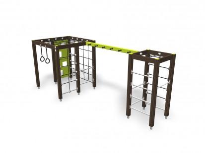 CLIMBING TRACK - Echipament de catarat pentru copii 137075M NEW FINNO Echipamente de joaca din lemn