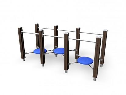 BALANCING BRIDGE - Echipament de joaca pentru copii 137035M NEW FINNO Echipamente de joaca din lemn