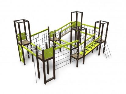MOTORIC TRACK - Echipament de joaca pentru catarat 137300M NEW FINNO Echipamente de joaca din lemn