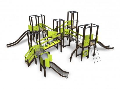 MOTORIC TRACK - Echipament de joaca pentru copii 137055M NEW FINNO Echipamente de joaca din lemn