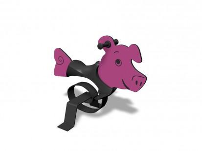 PIG - Balansoar cu arc 010516 NEW FINNO Echipamente de joaca din lemn pentru copii