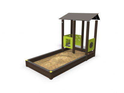 PLAY YARD - Echipament de joaca cu nisip 137407M NEW FINNO Echipamente de joaca din lemn